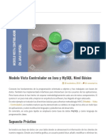 Modelo Vista Controlador en Java y MySQL. Nivel Básico _ Kadum.pdf