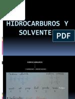 Hidrocarburos y Solventes