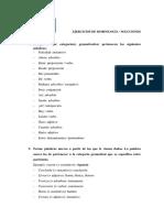 Ejercicios de Morfología General (2)Con Soluciones