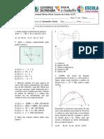 Função Afim e Quadrática-prova - Copia - Cópia