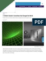 Interestingengineering Com 7 of Albert Einsteins Inventions That Changed the World