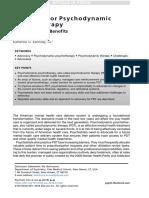 Advocacy for Psychodynamic 2018