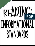 reading- informational standards