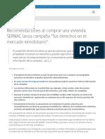 """Recomendaciones Al Comprar Una Vivienda_ SERNAC Lanza Campaña """"Tus Derechos en El Mercado Inmobiliario"""" - SERNAC_ Noticias"""