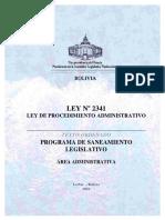 LEY 2341 PROCEDIMIENTO ADMINISTRATIVO