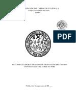 Guía Trabajo Graduación Técnico y Licenciado 2019 Envia Por Consejo Directivo