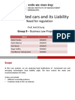 Automated Cars and its liability