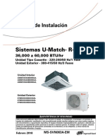 Cassette Trane Manual de Instalación (Español)