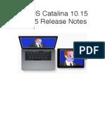 MacOS Catalina 10.15 Beta 5 Release Notes