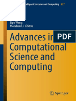 (Advances in Intelligent Systems and Computing 877) Ning Xiong, Zheng Xiao, Zhao Tong, Jiayi Du, Lipo Wang, Maozhen Li - Advances in Computational Science and Computing-Springer International Publishi