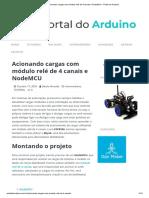 Acionando cargas com módulo relé de 4 canais e NodeMCU - Portal do Arduino
