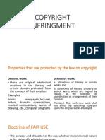 Copyright Infringment