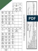 Academy of Dance Dynamics Fall Schedule