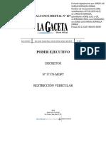 Decreto Restricción Vehicular