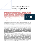 How to Perform Initial LiFePo4 Battery Pack Balancing Using MiniBMS