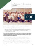 31-07-2019 Maestros de inglés de Proni exigen a la SEC prestaciones y respeto a derechos laborales - Proyecto puente