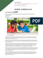 Como Estimular a Leitura Na Alfabetizacao