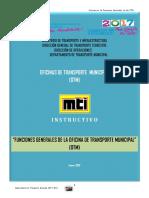 Funciones Generales de La Oficina de Transporte Municipal OTM