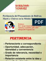 PERTINENCIA Pensamiento Bolívar Martí Chávez
