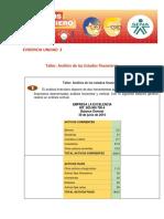 EVIDENCIA UNIDAD 2 Taller Análisis de Los Estados Financieros