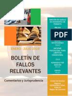 Boletín de Fallos Relevantes Enero Julio 2019