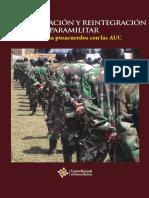 Desmovilizacion y Reintegracion Paramilitar