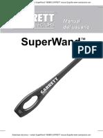 Manual detector de metales corporal