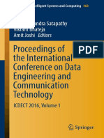 Proceedings of the International Conference on Data Engineering and Communication Technology ICDECT 2016 Volume 1