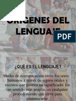 Origenes del lenguaje