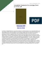 El Desarrollo de La Personalidad Seminarios de Astrologia Psicol Ogica (Vol I)