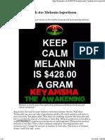 Melanin Myth #2 Melanin Injections