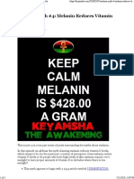 Melanin Myth #4 Melanin Reduces Vitamin D Levels