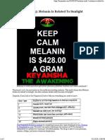 Melanin Myth #5 Melanin is Related to Sunlight