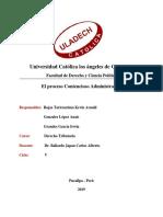 El Proceso Contencioso Dministrativo Peruano