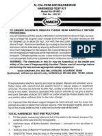 Hardness (Total & Calcium) Test Manual, HA-4P MgL, Drop Count Titration 1457-01(1)