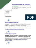MANEJO DE HERRAMIENTAS MICROSOFT OFFICE 2016