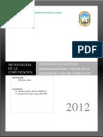 Trabajo Terminado Plasticos Biodegradables a Partir de La E. Coli Recombinante