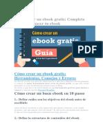 Cómo Crear Un eBook Gratis