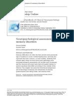 The Handbook of Clinical Neuropsychology9
