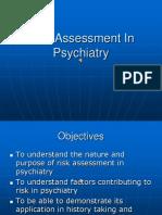 Risk Assessment in Psychiatry