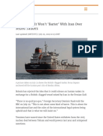 Britain Says It Won't 'Barter' With Iran Over Seized Tankers