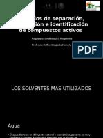 Métodos de extracción y cuantificación
