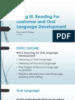 Oral Language Ppt