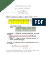 Sistema de Ecuaciones Lineales