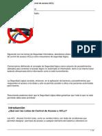 Listas de Control de Acceso Acl
