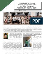 Informativo dos Fiéis da Forma Extraordinária da Diocese de São José dos Campo