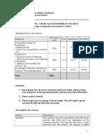Group Assignment Assessment Criteria