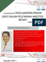 Dr Sutoto - Skp Dalam Pelayanan Anestesi Bedah