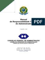 Manual de responsabilidade técnica do administrador