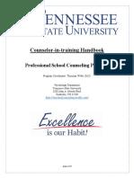 tsu counselor-in-training handbook